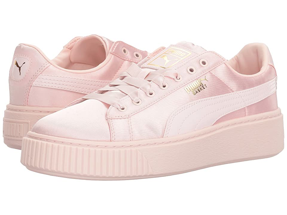 Puma Kids Basket Perform Tween (Big Kid) (Pearl/Pearl) Girls Shoes