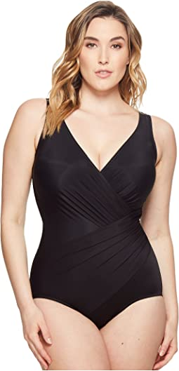 Miraclesuit Plus Size Solids Oceanus One-Piece