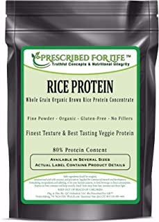 Rice Protein - Whole Grain Organic Brown Rice Protein Concentrate - 80% Protein, 2 kg