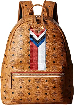 MCM Stark Chevron Stripe Visetos Backpack