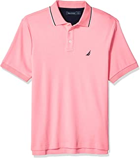 Men's Classic Fit Short Sleeve Dual Tipped Collar Polo...