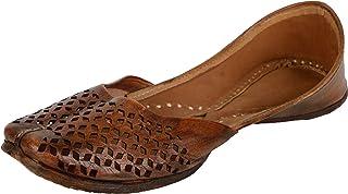 Naanjil Women's Leather Juttis, nam00057-$Parent SKU