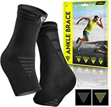 Langov Ankle Brace Support for Men & Women (Pair), Best Compression Sleeve Socks for Your Foot or Sprained Ankle, Helps Wi...