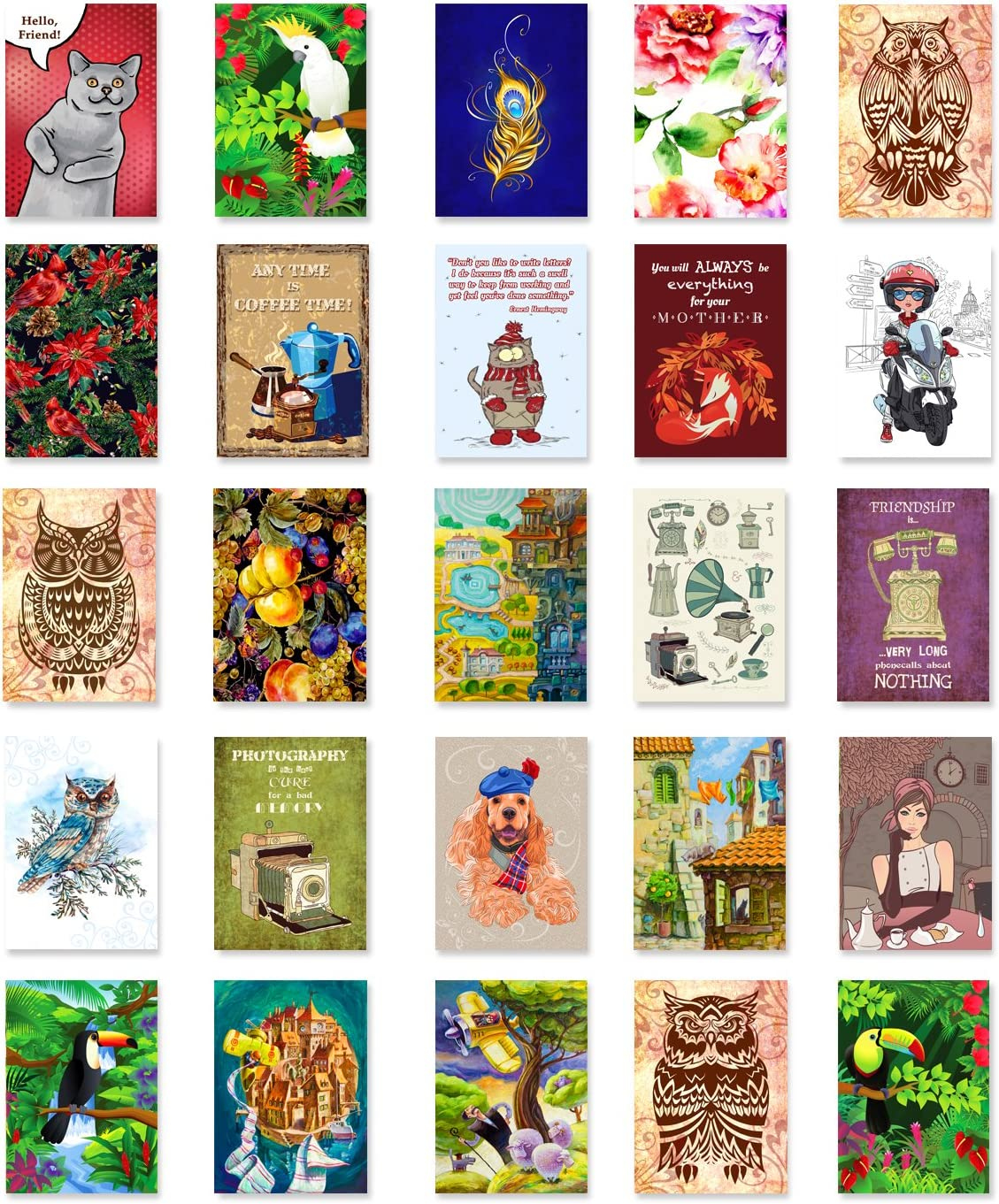 ILLUSTRATIONS postcard Max 69% OFF set of 50 Variety postcards. Ranking TOP4 fift pack