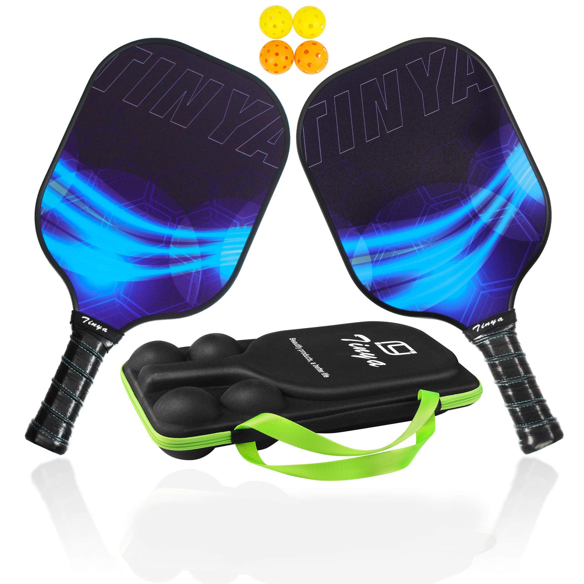 EDEUOEY Graphite Pickleball Paddle Set: USAPA Approved -WGWV