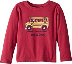 School Bus Friends Crusher T-Shirt Long Sleeve (Toddler)