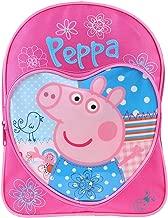 Sac à dos en forme de cœur Peppa Pig, sac à dos pour enfants, rose, bleu