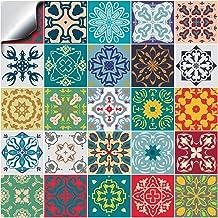 15 x 15 CM 16 Vinilo Azulejo Adhesivo Mural 2D PVC Auto-Adhesivo Baldosa Cuadrado Pegatina Pared Revestimiento Decorativo Cocina Ba/ño Impermeable