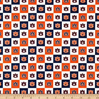 Sykel Enterprises NCAA Auburn Collegiate Check TEAM COLOR, Fabric by the Yard