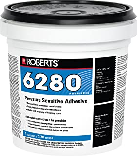 Roberts R6280-1 Interior Installation Back, Commercial Carpet Cushion, Fiberglass Reinforced Sheet Vinyl & Luxury Tiles Vinyl Adhesive, 1 Gallon