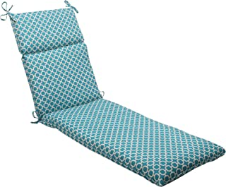 Pillow Perfect Indoor/Outdoor Hockley Chaise Lounge Cushion, Teal