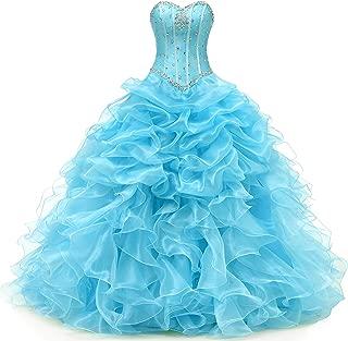Women's Ball Gown Organza Quinceanera Dressrom Gowns