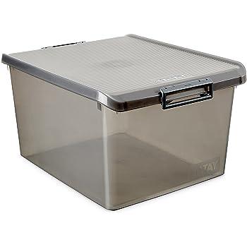 TATAY Caja de Almacenamiento Multiusos con Tapa, 35 l de Capacidad ...