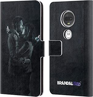Official Brandalised Mobile Phone Lovers Banksy Art Street Tags Leather Book Wallet Case Cover Compatible for Motorola Moto G7 / G7 Plus