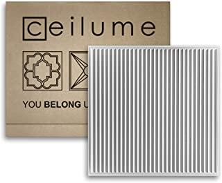 Ceilume 14 pc Polyline Ultra-Thin Feather-Light 2x2 Lay in Ceiling Tiles - for Use in 1