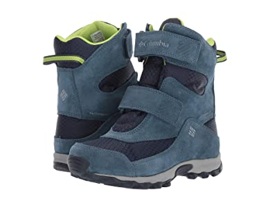 Columbia Kids Parkers Peaktm Boot (Little Kid/Big Kid) (Collegiate Navy/Fission) Boys Shoes