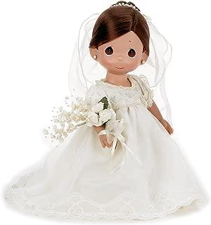 The Doll Maker Precious Moments Dolls, Linda Rick, Enchanted Dreams Bride Brunette, 12 inch Doll