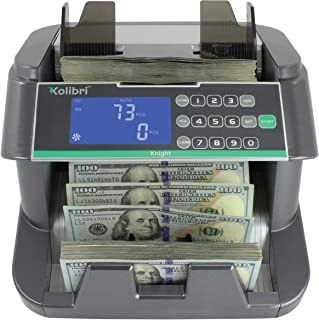 Kolibri Knight Money Bill Counting Machine with UV, MG, IR, HF, DB Counterfeit Detection, Top Loading Cash Counter with Ba...