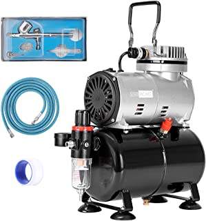 VIVOHOME 110-120V Professional Airbrushing Paint System with 1/5 HP Air Compressor and 1 Airbrush Kit for Tattoo Makeup Sh...