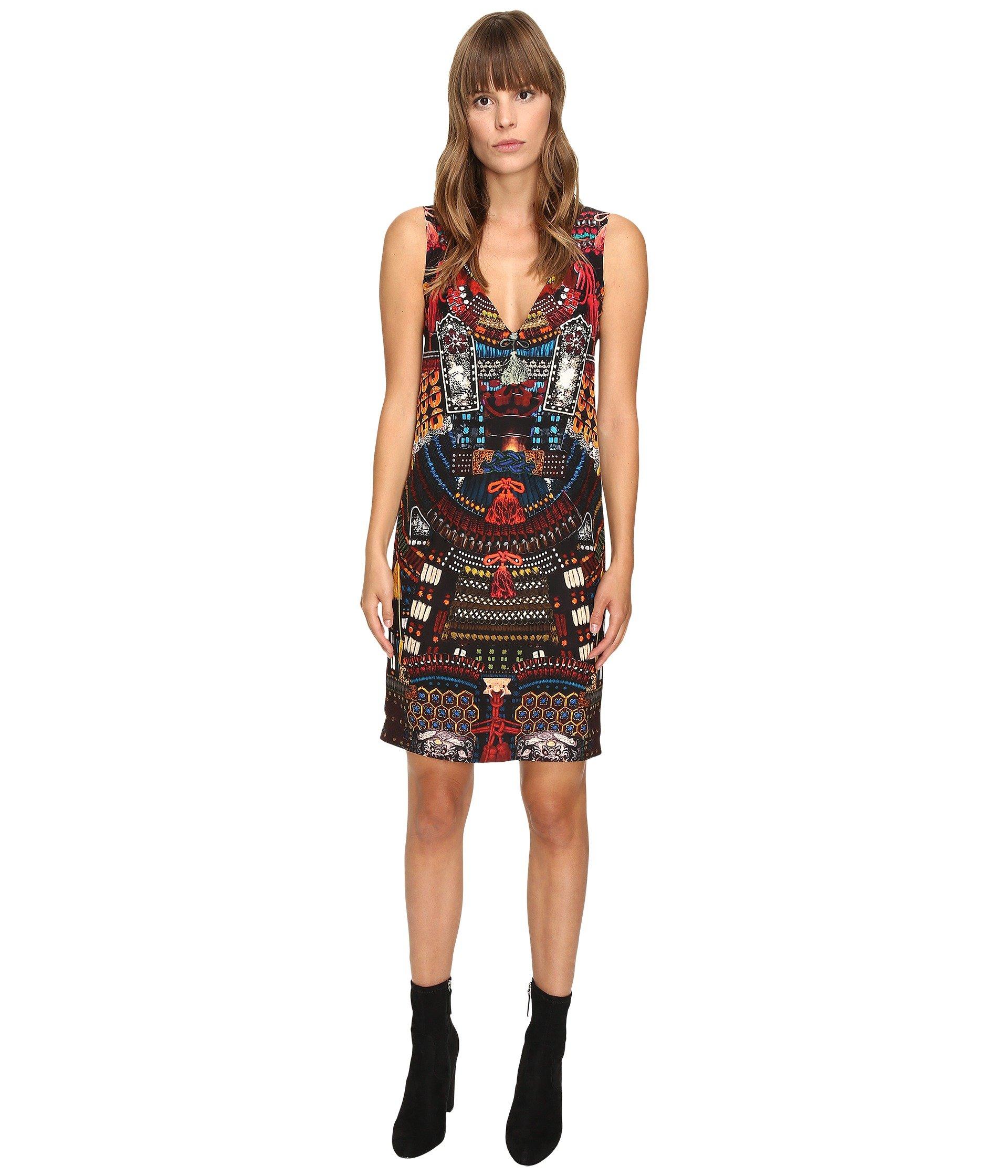 Samurai Printed V-Neck Dress