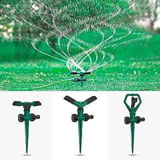 DTNO.I Lawn Sprinkler, 3 Pack Automatic 360° Rotating Lawn Sprinkler Adjustable Watering System for Lawn, Nursery & Grass Irrigation, Garden Water Sprinklers with Leak Design for Kids Playtime