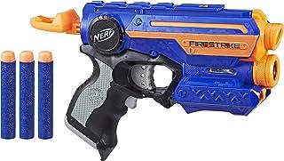 Lança Dardos Nerf Elite Firestrike - Com três dardos Nerf - Lançador de alto alcance - A0709 - Hasbro