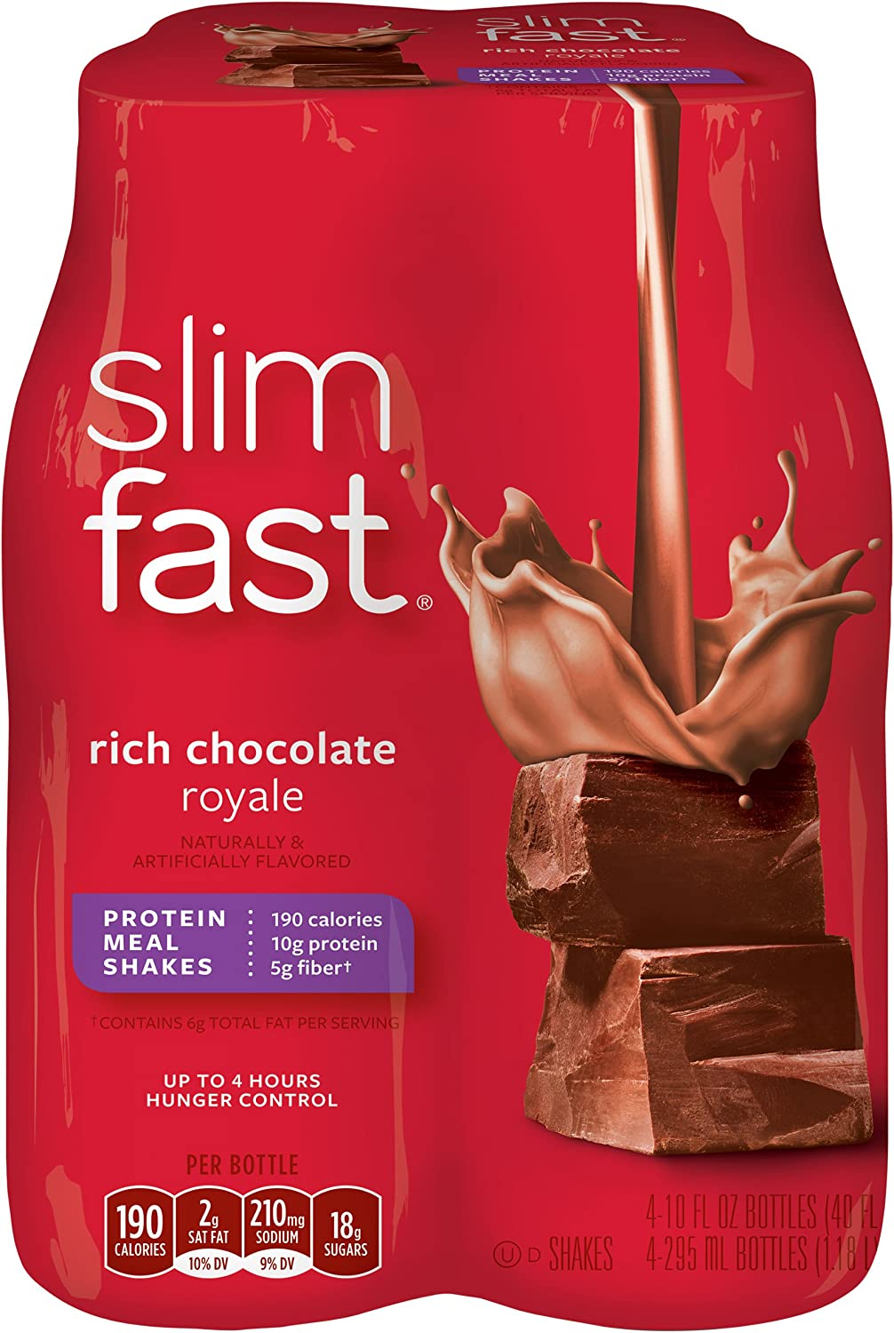 Slim Fast 3-2-1 Rich Chocolate Royale Case Limited time trial price OZ 10 Bargain sale Contains Shake