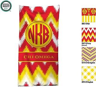 Chi Omega Personalized Beach Towel / Pool Towel / Personalized Beach Towel Monogrammed Beach Towel / Chi Omega Sorority Gift / Bid Day Gift