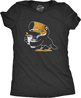 Womens Toucan Two Cans Tshirt Funny Beer Drinking Tropical Bird Tee for Ladies