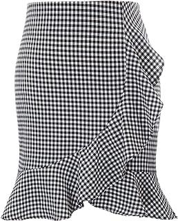 d6ba526e9e2 Kate Kasin Mode Femme Jupe Crayon Midi des Volants Décorés pour Travail  Bureau Occasion Formalle