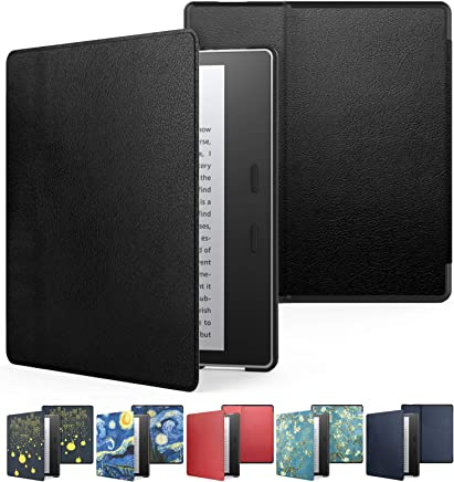 Capa Kindle Oasis WB® Auto Liga/Desliga - Couro Preta