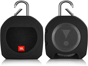 TXEsign Protective Silicone Stand Up Case for JBL Clip 3 Waterproof Portable Bluetooth Speaker (Black)