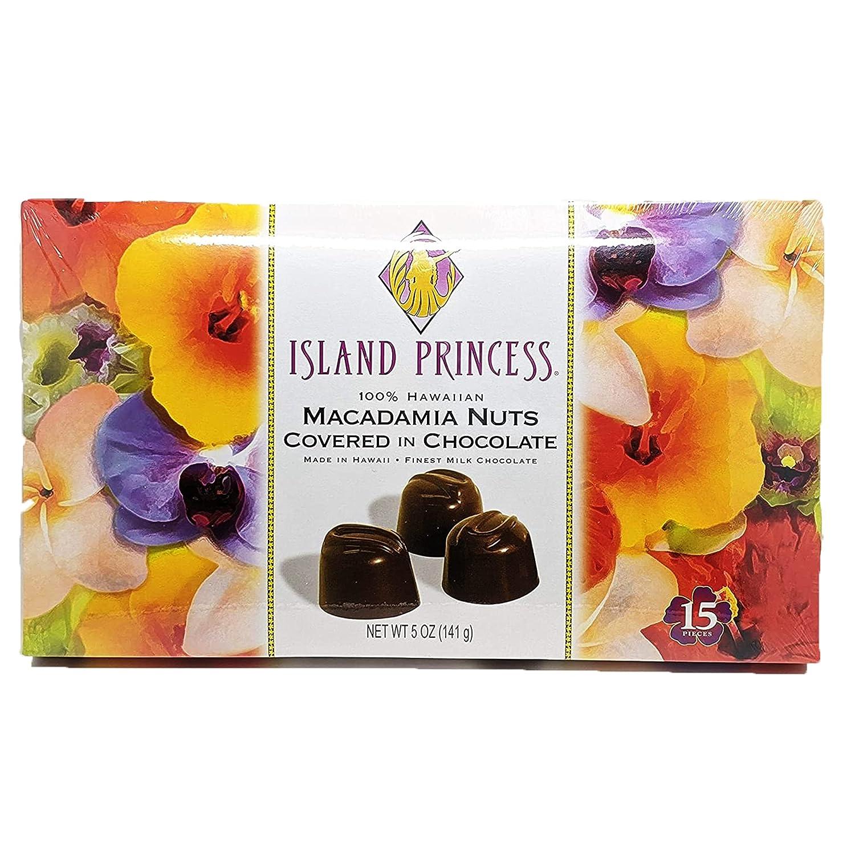 Island [Alternative dealer] Princess 100% Max 61% OFF Hawaiian Macadamia in Covered Nuts Chocolat