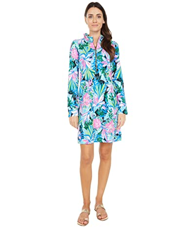 Lilly Pulitzer UPF 50+ Skipper Ruffle Dress (Onyx You Me and Giraffee) Women