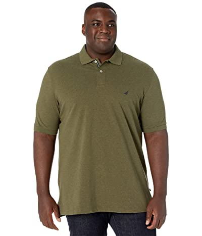 Nautica Big & Tall Big Tall Short Sleeve Solid Deck Shirt (Coastal Olive Heather) Men