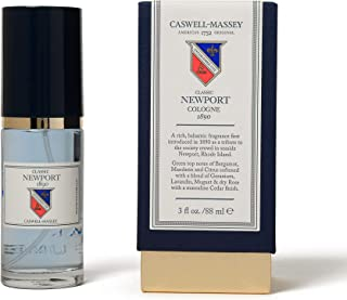 Caswell-Massey Classic Newport Cologne Spray - Fresh Seaside Fragrance For Men With Sandalwood, Cedar, and Citrus Scent - 88 ml