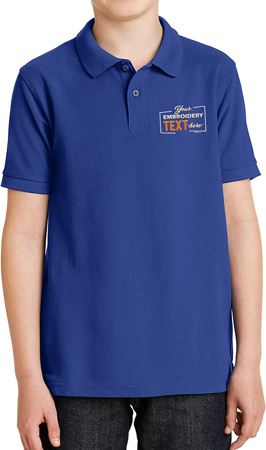 Custom Embroidered Jersey Polo Shirts for Youth Personalized Add Your Own Text