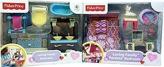Fisher Price Loving Family Bathroom & Parents' Bedroom . Bundle of 2