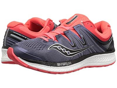Saucony Hurricane ISO 4 (Grey/Black/Vizi Red) Women