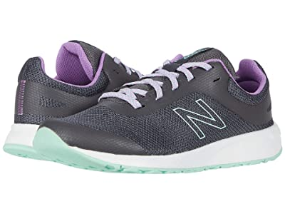 New Balance Kids 455v2 (Little Kid/Big Kid) (Magnet/Neo Violet) Girls Shoes