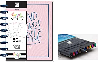 me & My Big Ideas: Medium/Classic Guided Journal Kinds Words Cost Nothing- Gratitude and Comes with Kemah Craft 10 Pc Fineliner Color Pen (PBJR-11)