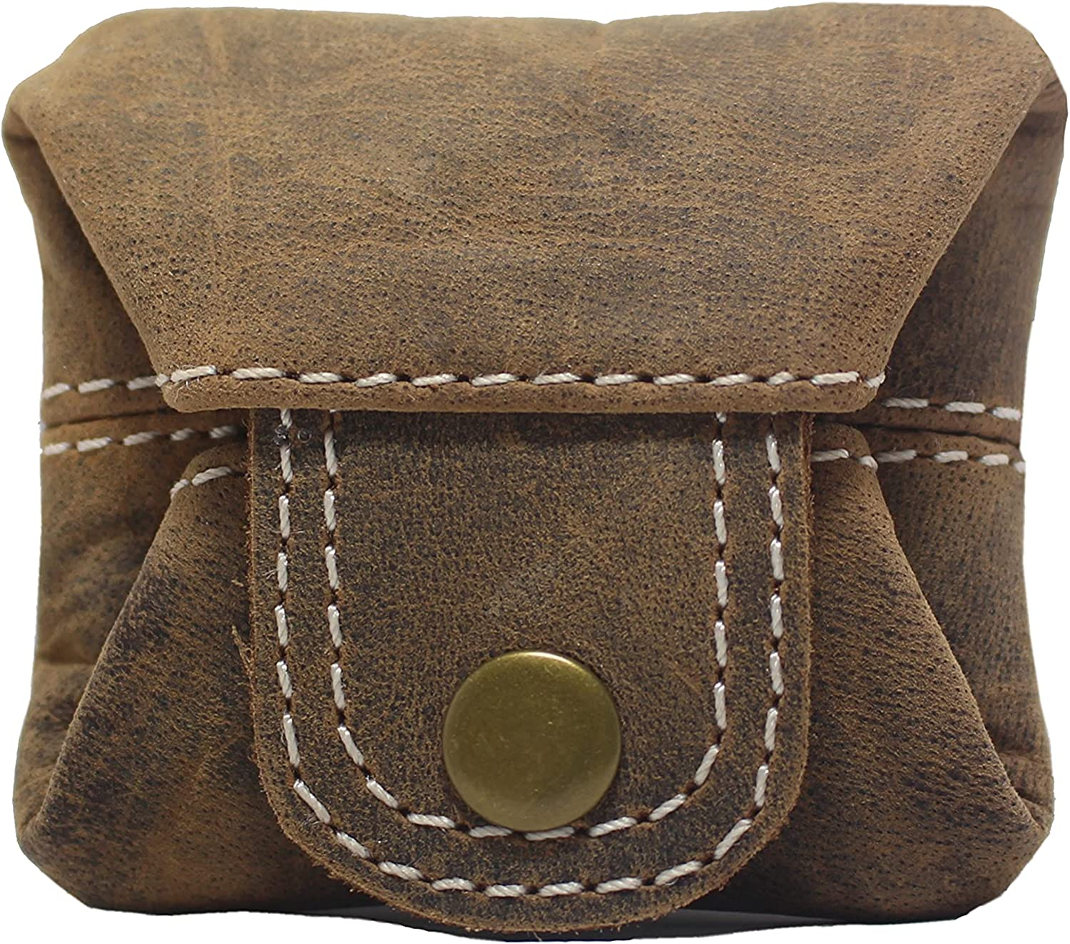 JYOS Leather Coin Purse - Premium Leather Pouch Small Wallet - Medicine Pouch - Contact Lenses Pouch
