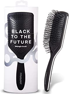 Framar Detangler Brush, Paddle Brush – Elegant Detangling Brush, No more Tangles Hair Brush – Hair Brushes for women, men ...