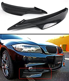 Carbon Fiber Front Bumper Splitter Fits for 2009-2011 BMW E90 LCI 3 Series With M Tech Bumper Only