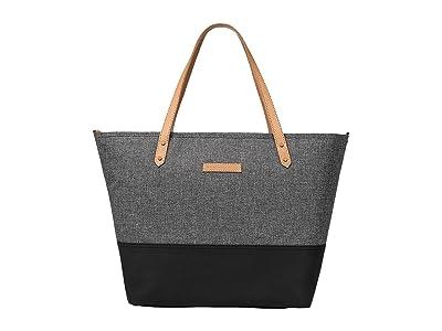 petunia pickle bottom Glazed Color Block Downtown Tote (Graphite/Black) Tote Handbags
