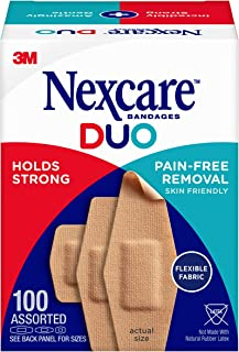 Sponsored Ad - Nexcare Duo Fabric Bandages, Assorted Ready-for-Anything 100ct