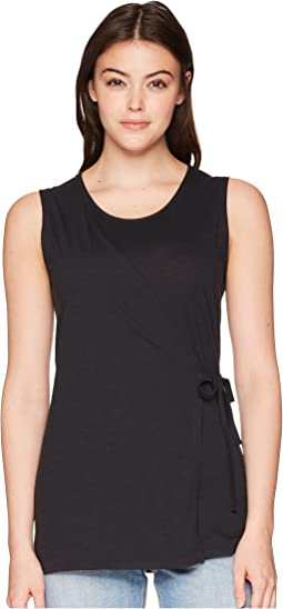 Strie Sleeveless Wrap Top