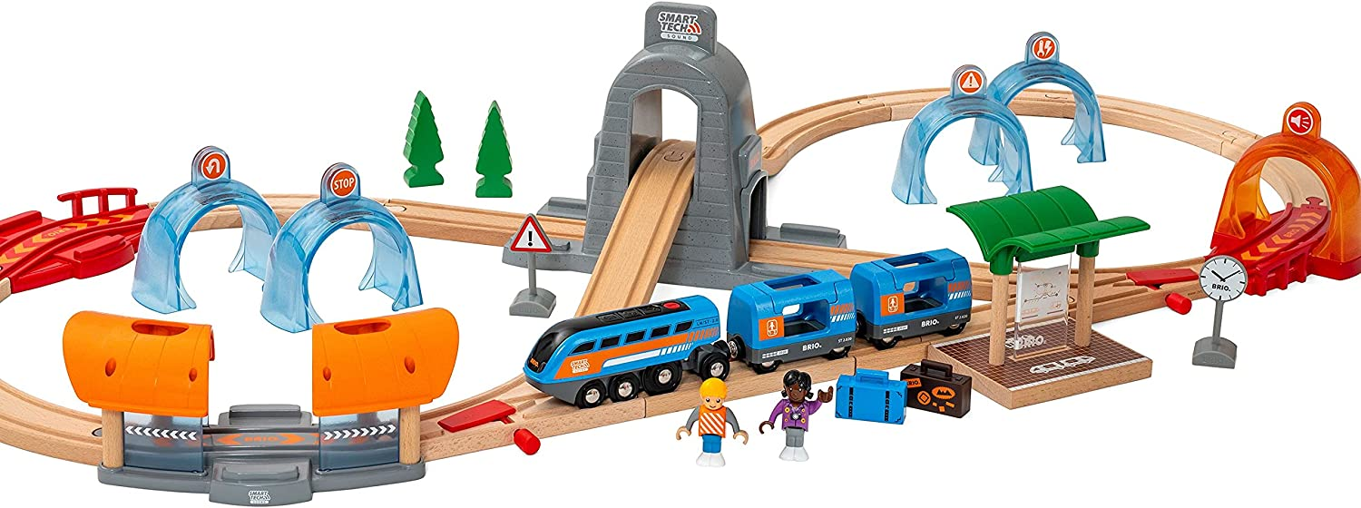 Brio 1 year warranty Tampa Mall 33972 Smart Tech Sound Action To Set Travel Tunnel Wooden