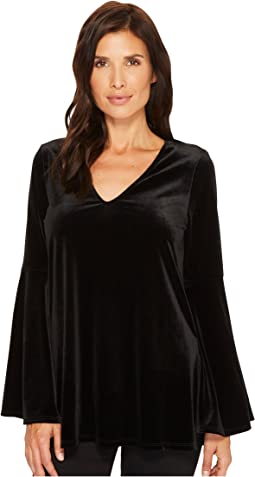 Karen Kane - Velvet Bell Sleeve V-Neck Top