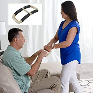 Able Life Universal Standing Handle Plus to Transfer Senior, Elderly, Bariatric, or Handicap Patient, Assists Caregiver, Nurse, or Therapist, Replacement for Gait Belt - Ivory